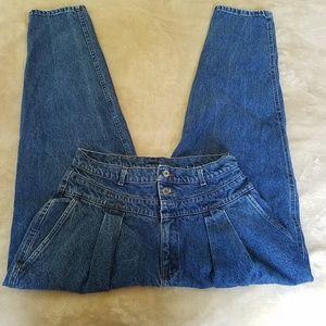 Vintage 80's Lee super high waisted bareback jeans